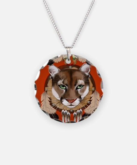 Queen Duvet Cougar Shield Necklace