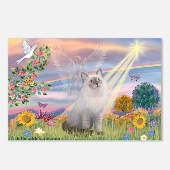 Cloud Angel & Ragdoll Postcards (Package of 8)