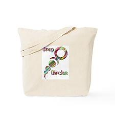 Crop Circle #2 Tye Dye Tote Bag