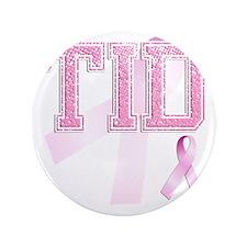"TID initials, Pink Ribbon, 3.5"" Button"
