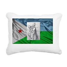 Jackal from Djibouti Rectangular Canvas Pillow