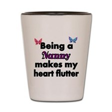 Being a Nanny makes my Heart Flutter Shot Glass