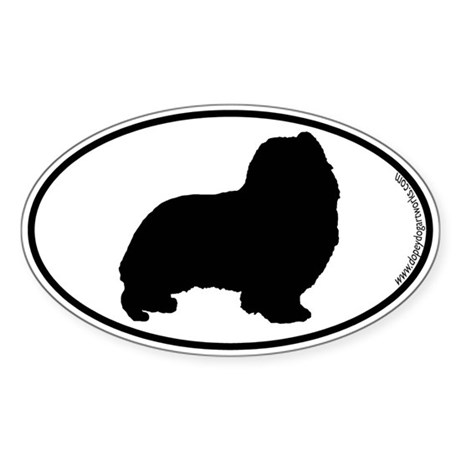 Sheltie SILHOUETTE Oval Sticker