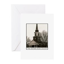 The Donald Duck Church Greeting Cards (Package of