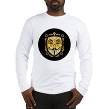 Guy Fawkes Sugar Skull Long Sleeve T-Shirt