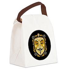 Guy Fawkes Sugar Skull Canvas Lunch Bag