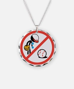 No Crying in Baseball Necklace Circle Charm