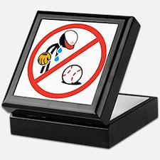 No Crying in Baseball Keepsake Box