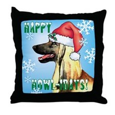 Holiday Afghan Hound Throw Pillow