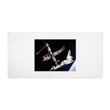 Atlantis & The Space Station Beach Towel