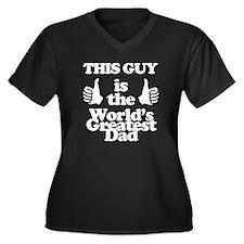 Worlds great Women's Plus Size Dark V-Neck T-Shirt