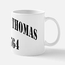 lthomas dd black letters Mug