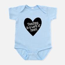 Teacher Heart Infant Bodysuit