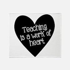 Teacher Heart Throw Blanket