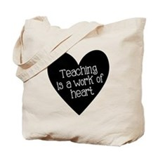 Teacher Heart Tote Bag