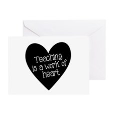 Teacher Heart Greeting Card