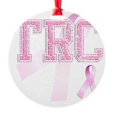 TRC initials, Pink Ribbon, Ornament