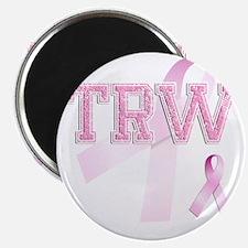 TRW initials, Pink Ribbon, Magnet