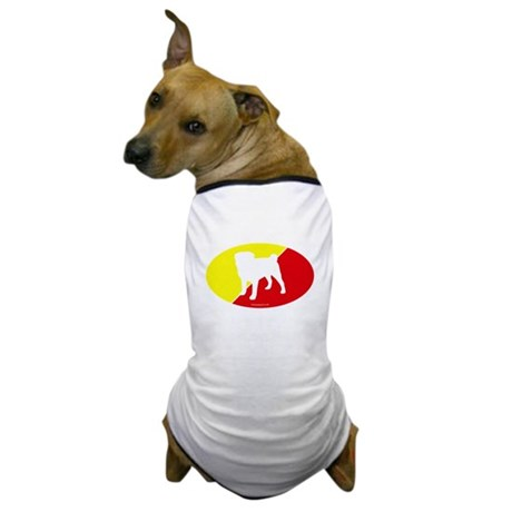 China Flag Pug Dog T-Shirt