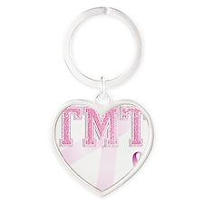 TMT initials, Pink Ribbon, Heart Keychain