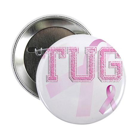 "TUG initials, Pink Ribbon, 2.25"" Button"