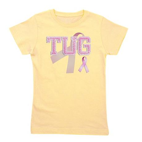 TUG initials, Pink Ribbon, Girl's Tee