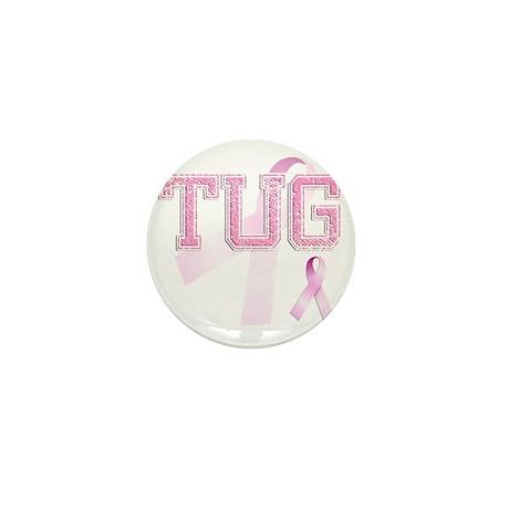 TUG initials, Pink Ribbon, Mini Button