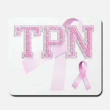 TPN initials, Pink Ribbon, Mousepad