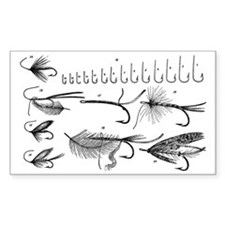 Vintage Hook and Fly Collectio Decal