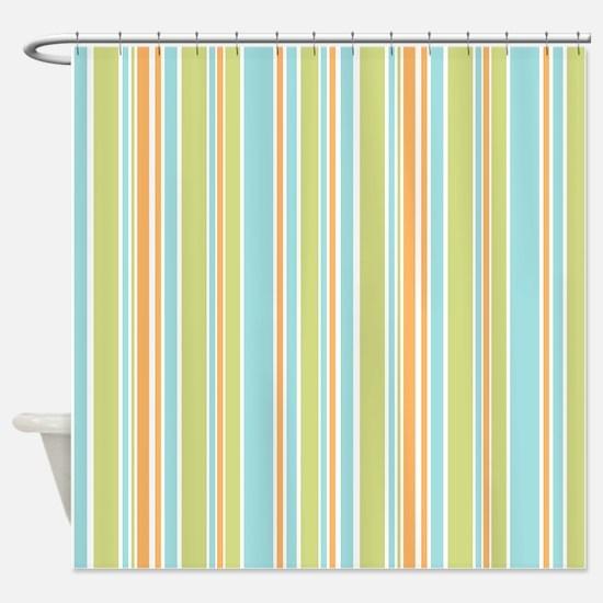 Pastel stripes pattern Shower Curtain