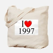 """I Love 1997"" Tote Bag"