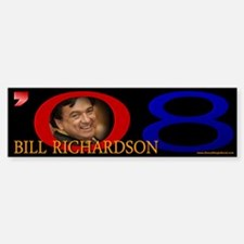 Bill Richardson Signature Bumper Car Car Sticker