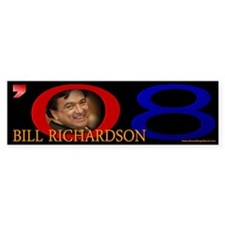 Bill Richardson Signature Bumper Car Sticker