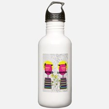 FF Ret Librarian bird  Water Bottle
