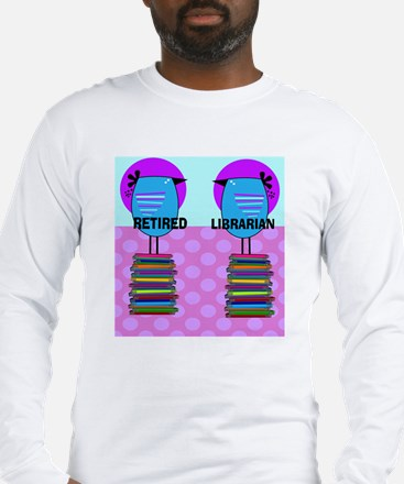 ff Ret Librarian Bird 2 Long Sleeve T-Shirt