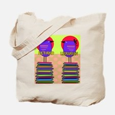 FF Ret Librarian bird 3 Tote Bag