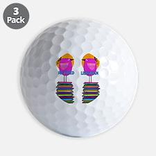 FF Ret Librarian Bird 4 Golf Ball