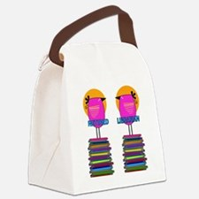 FF Ret Librarian Bird 4 Canvas Lunch Bag