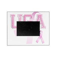 UGA initials, Pink Ribbon, Picture Frame
