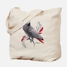 Cute African gray parrot Tote Bag