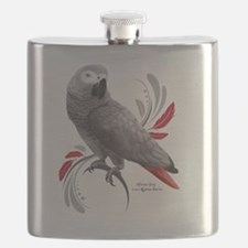 Funny Parrot Flask