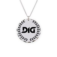 Doorman is God Logo Black Necklace