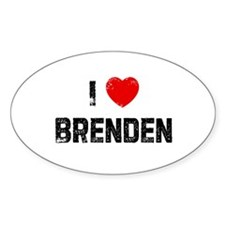 I * Brenden Oval Decal