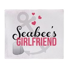 Seabee's Girlfriend Throw Blanket