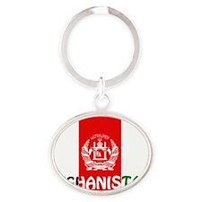 Afghanistan Oval Keychain