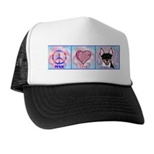 peace love rat terrier by m. french Trucker Hat