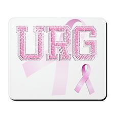URG initials, Pink Ribbon, Mousepad