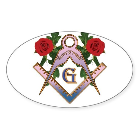 Roses for the Lady Oval Sticker