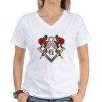 Roses for the Lady Women's V-Neck T-Shirt
