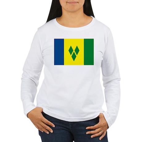 St. Vincent Flag Women's Long Sleeve T-Shirt